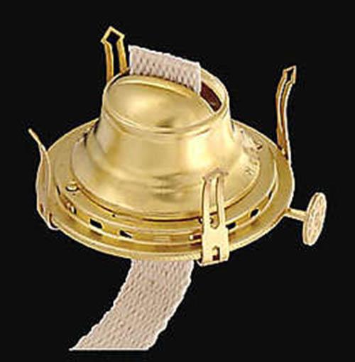 2 Queen Anne Burner Bright Brass Finish 10622
