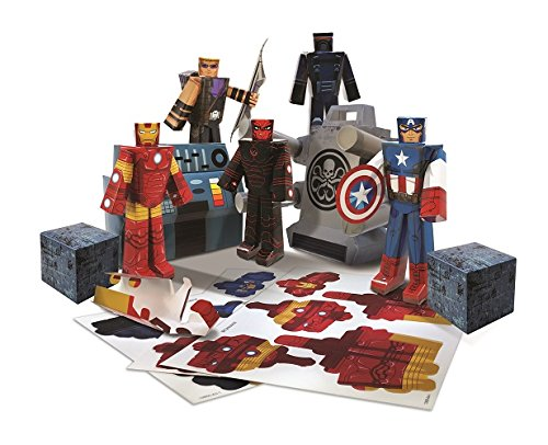 Blueprints paper craft marvel avengers team heroes pack 12800 malvernweather Images