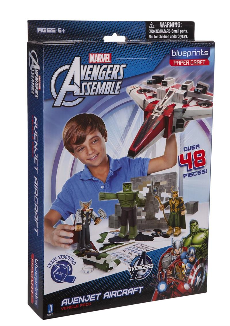 Blueprints paper craft marvel avengers avenjet aircraft pack 12805 malvernweather Images