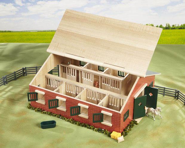 barn breyer two stall model aaaaaaatft toys horse red barns