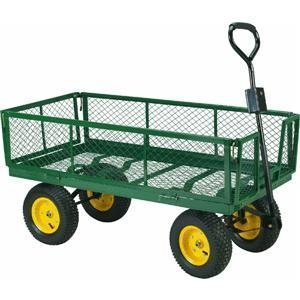 Steel Yard Cart With Collapsible Sides 1000 Pound Capacity