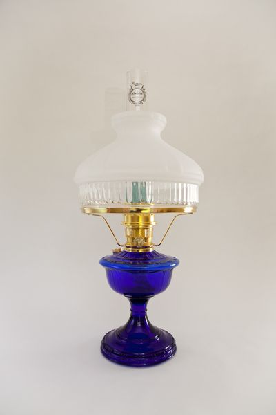 aladdin lamps alexandria cobalt blue glass table lamp with. Black Bedroom Furniture Sets. Home Design Ideas