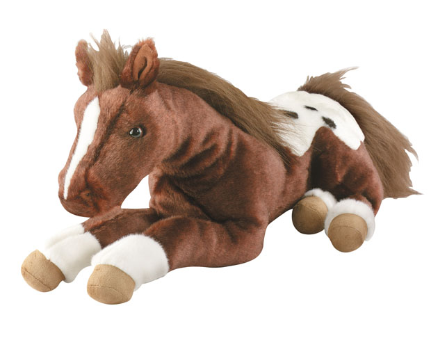 Stuffed Horse Toy : Breyer horses plush quot s mores chestnut appaloosa toy