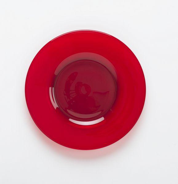 & Mosser Glass Red Dinner Plates set of 4