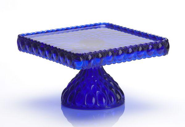 sc 1 st  Jack\u0027s Country Store & Mosser Glass Cobalt Blue Elizabeth Cake Plate #234CPCOB