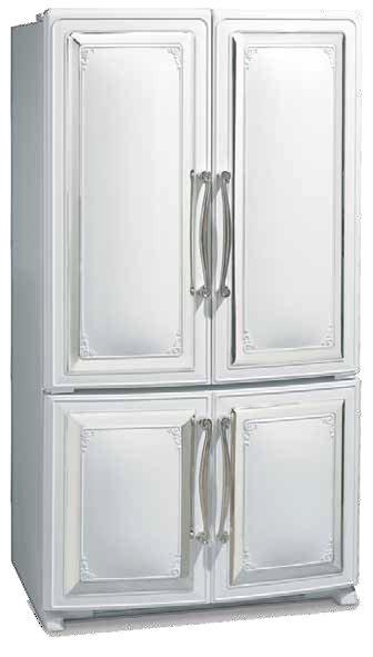 Elmira antique french door refrigerator 20 cubic foot for French door manufacturers
