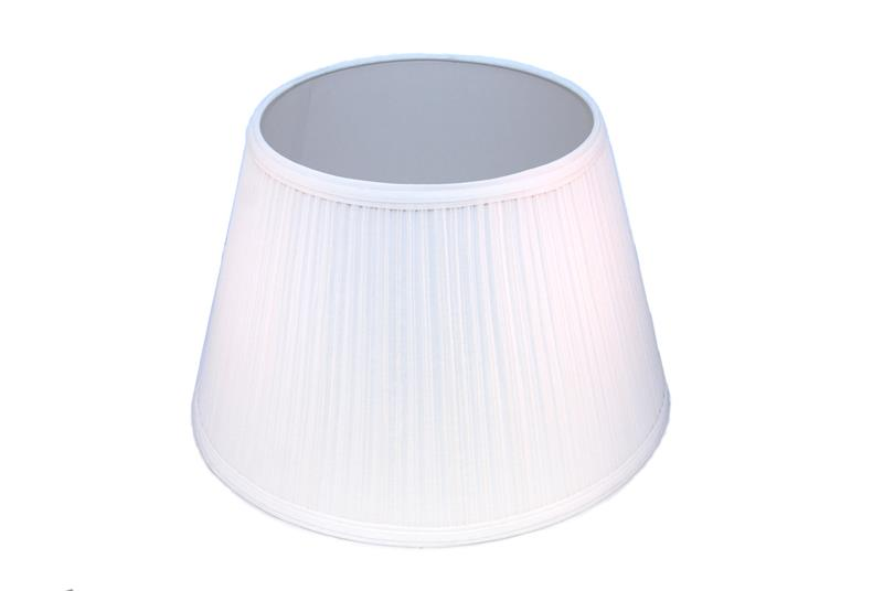 Aladdin lamps 14 white pleated cloth lamp shade n110w aloadofball Choice Image