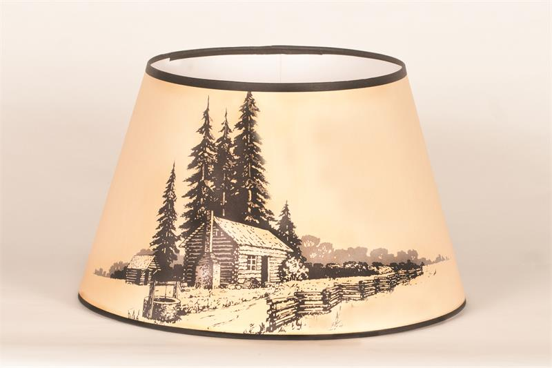 Aladdin lamps 14 log cabin parchment lamp shade n209 aloadofball Image collections