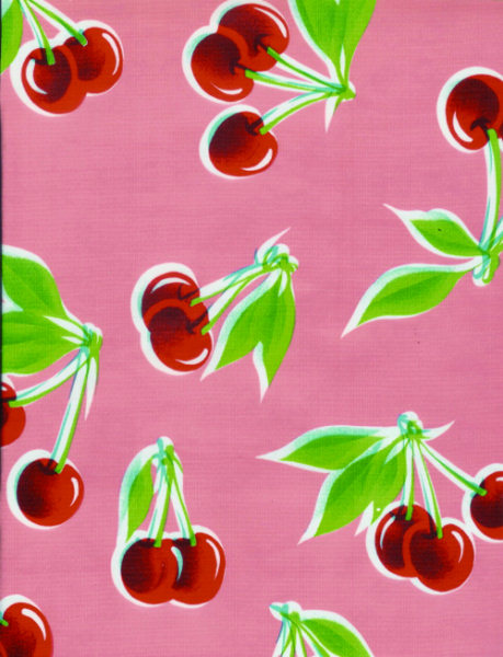 Stella Cherries Pink Oil Cloth Full Bolt