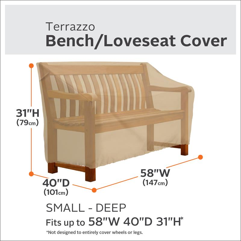 Classic Accessories Terrazzo Deep Seated Patio Loveseat Cover   All Weather  Protection Outdoor Furniture Cover, Small (55 899 022001 EC)