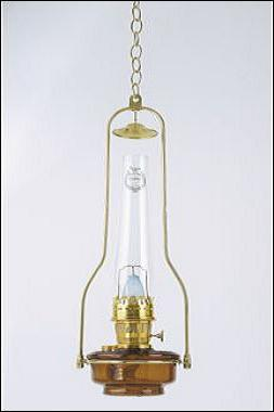 Wall Hanging Kerosene Lamp : Aladdin Lamps Deluxe Glass Hanging Lamp, brown (less shade), #BH815