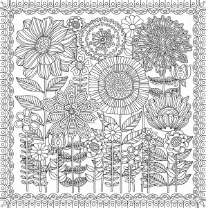 Peter Pauper Press Intricate Blooms Birds And Butterflies Coloring Book