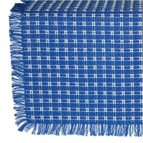 62 X 108 (Rectangle) Homespun Tablecloth Royal Blue And White Check.