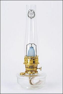 Aladdin Lamps Clear Genie Iii Lamp With Brass Hardware C6107