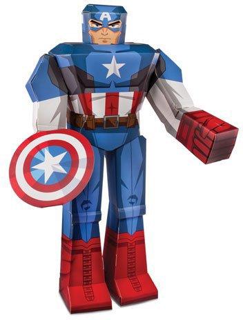 blueprints paper craft marvel 12 captain america 12814