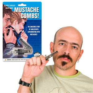 Accoutrements Switchblade Mustache Comb #11891