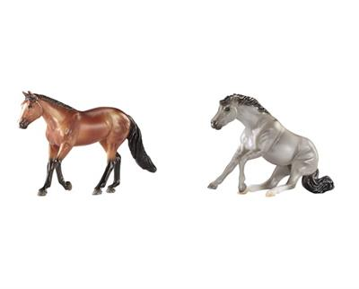 Miniture Bay Western Pleasure loper and Silver dun sliding reining horse