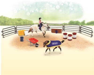 Cowgirl, Appy, QH, and ranch accessories for kids play