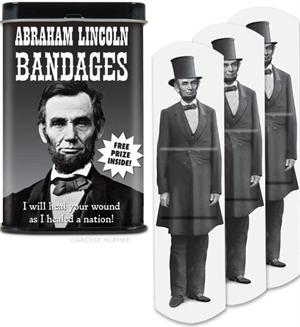 Accoutrements Abraham Lincoln Bandages 15pk #12302