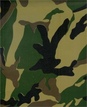 Camouflage Green Oil Cloth, Full Bolt