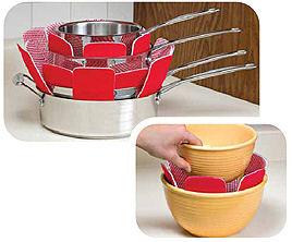 envision home 3 pack cookware guards pot protectors. Black Bedroom Furniture Sets. Home Design Ideas