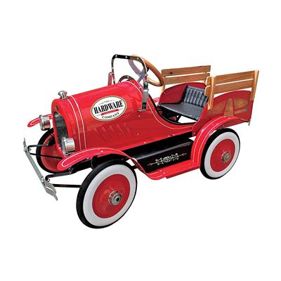 Bright Red pedal car with vintage style