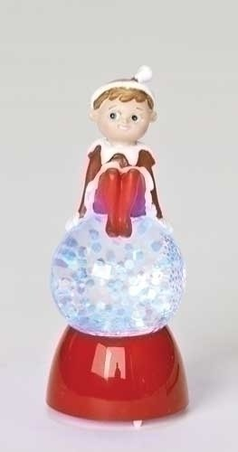 Elf on the Shelf Girl Glitter Buddy Glitter Globe #32044 Snow Globe
