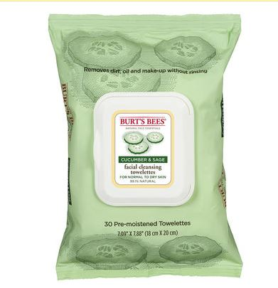 Burt's Bees Facial Cleansing Towelettes Cucumber & Sage 30 ct