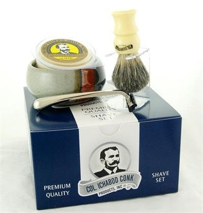 Men's Shaving Gift Set with ceramic shaving mug. Southwest decor.