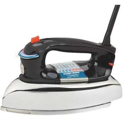 With timeless weight and design, as well as a wide range of convenient features, The Classic Iron from Black & Decker brings simplicity and style back to ironing. This F67E model features a fabric select dial, a three-way auto shutoff for added security,