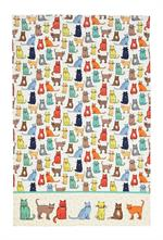 Colorful cat silhoutte kitchen towel