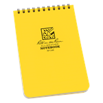 These are the truly go-anywhere, anytime, in any weather notebooks. The pocket top-spiral notebooks are conveniently sized to take with you on your outings. With a Polydura cover and the 4