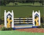 Discontinued rail fence show jumping jump for Model Horse play