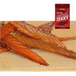 Smoked King Salmon Jerky is made only from hand-filleted, Grade A Wild Alaskan King Salmon. Rich in Omega-3 and proteins, but low in sodium
