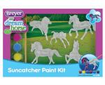 Stablemates painting is one of Breyer's most popular hobby activities! This exciting kit includes everything needed to create 5 beautiful Stablemates suncatchers. When painted with the special included paints, these horses will have a beautiful, transluce
