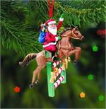 Breyer Horses Santa's Flight Jumper Ornament #700639 Christmas Holiday English Hunter Jump Horse Ornament