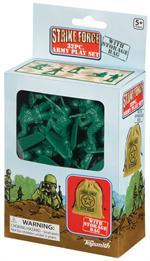 Toysmith Strike Force 32 Piece Army Play Set, #7803 Plastic Green Army Men