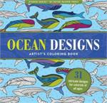 Adult level coloring book with patterns of fish, whale, jelly fish, ocean, koi, and water based animals.