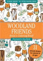 Adult level coloring book of wildlife and woodland animals.