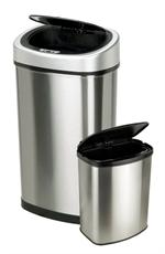 Nine Stars CB-DZT-50-9/8-1 13.2 Gallon and 2.1 Gallon Automatic Sensor Garbage Container Set