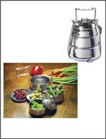 Rome 3-Tier Belly Shaped Tiffin Stainless Steel Food Container #2664