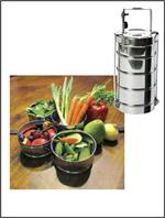 Rome 4-Tier Round Tiffin Stainless Steel Food Container #2667