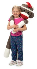 oversized plush sock monkey toy