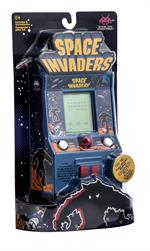 Iconic arcade and video game, with pixelated alien and fun play.