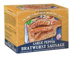 Make homemade Garlic Pepper Brats with this easy to use sausage kit.