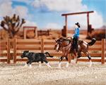 Breyer Horses Stablemates Size Cutting Horse Set #5374