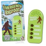 Sasquatch noise maker: Howl, Snort, Growl, Roar