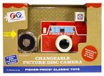 The iconic Changeable Disk Camera, originally introduced in 1968, is back for a new generation of children to enjoy. This adorable camera features interhangeable picture disks