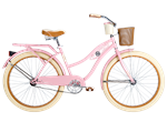 Deluxe Women's Cruiser Bike Bicycle in Soft Pink #26655
