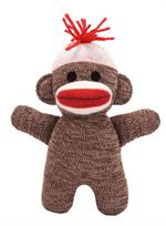 Small Brown Sock monkey doll toy
